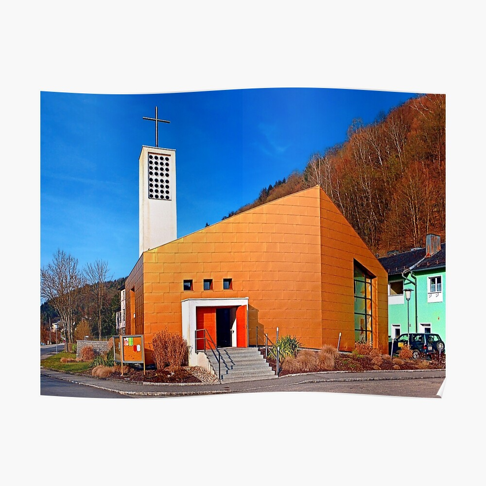 The village church of Obermühl 1 | architectural photography Poster