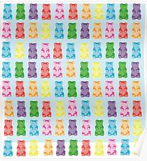 Gummy bear print pillow Poster