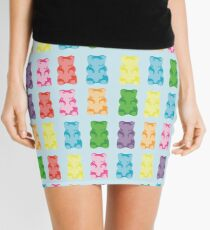 Gummy bear print pillow Mini Skirt