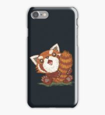 Red panda which holds a tail iPhone Case/Skin