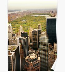 Central Park New York City From Above Poster