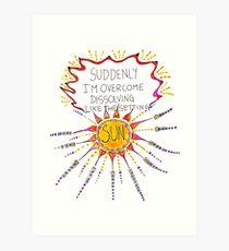 Auflösen wie die untergehende Sonne Kunstdruck