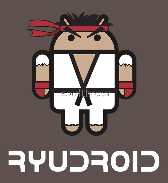 Ryu from Street Fighter goes Google Android Style by soulthrow