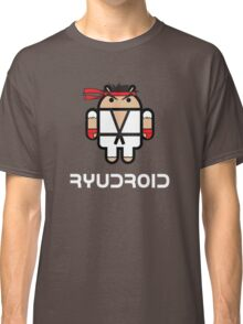 Ryu from Street Fighter goes Google Android Style Classic T-Shirt