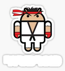 Ryu from Street Fighter goes Google Android Style Sticker