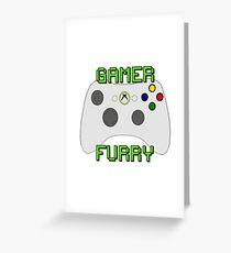 360 Gamer Fur Greeting Card