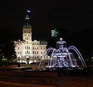 Quebec Parliament & Tourny Fountain by John Schneider