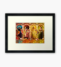 Joy Faith Hope & Love Framed Print