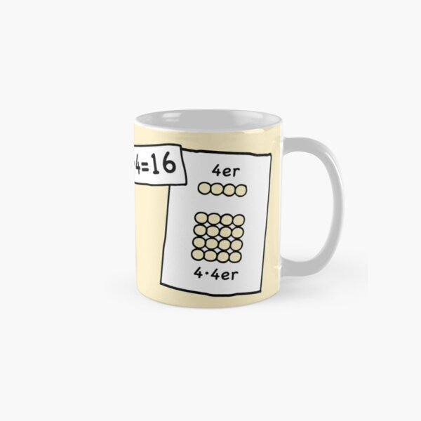 Cocoa with brains | 4x4 comprehension and retention with learning cups at breakfast | 1 Times Square Numbers | Vintage Classic Mug