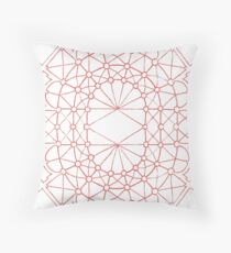Choral Coral Throw Pillow