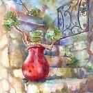 David's Europe 1 - Red French Pot by Yevgenia Watts