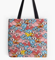 The Amazing World Of Gumball Wattersons Pattern Tote Bag