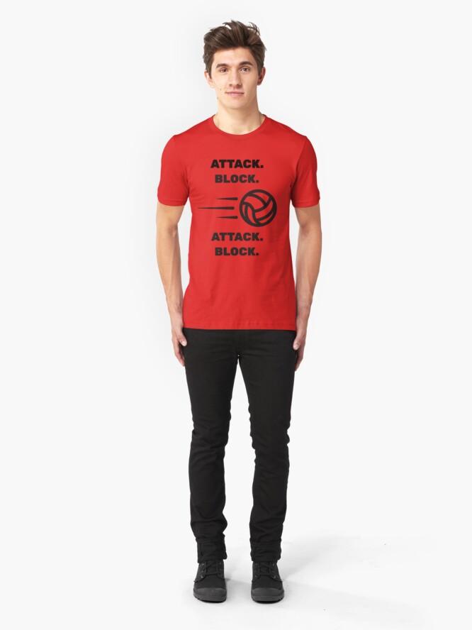 Alternate view of Attack Block, Attack Block Soccer Tee Slim Fit T-Shirt