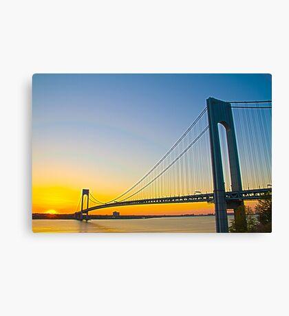 Dawnting the Bridge Canvas Print