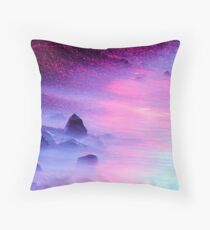 Iridescent Shore Throw Pillow