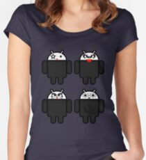 KISSdroids Women's Fitted Scoop T-Shirt