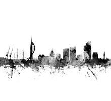 Portsmouth England Skyline Photographic Print