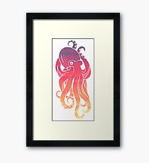 Sunset Sky Octopus Framed Print