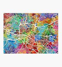 Glasgow Street Map Photographic Print