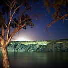 Moonrise over the Murray by Roberts Birze