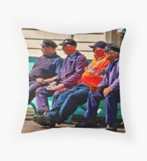 Everything Stops for Tea Throw Pillow