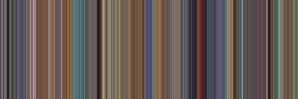 Moviebarcode: A Scanner Darkly (2006) [Simplified Colors] by moviebarcode