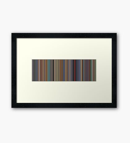 Moviebarcode: A Scanner Darkly (2006) [Simplified Colors] Framed Print