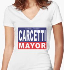 Carcetti for Mayor Women's Fitted V-Neck T-Shirt