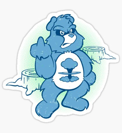 Don't Care Bear (blue) Sticker