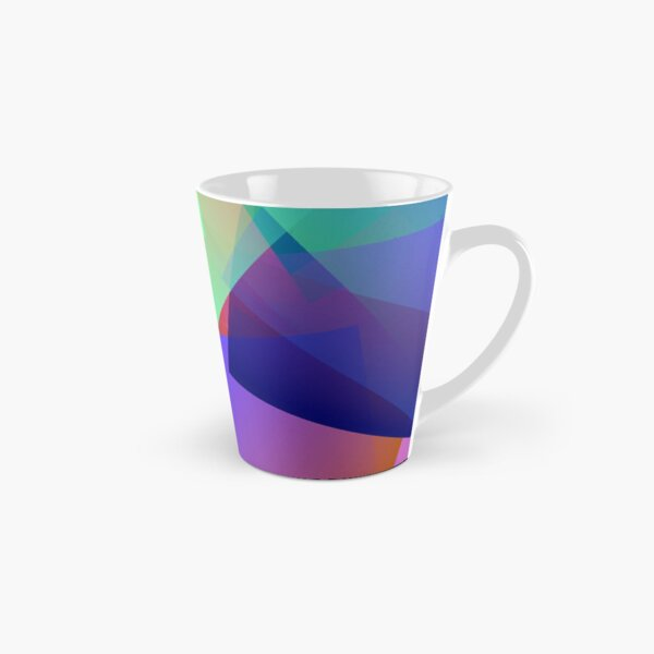 Cubic in Blue, Orange and Lime Tall Mug