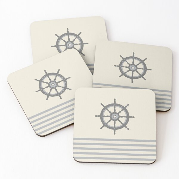 AFE Gray Helm Wheel Coasters (Set of 4)