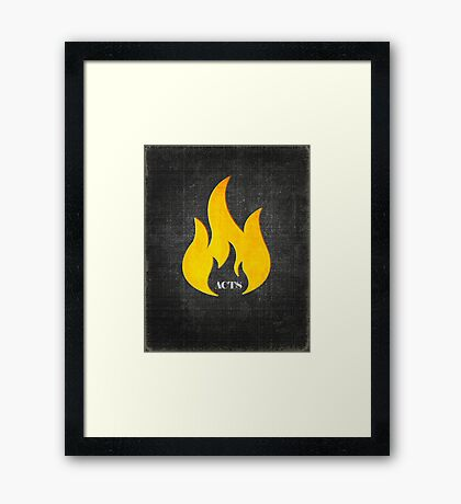 Word: Acts Framed Print