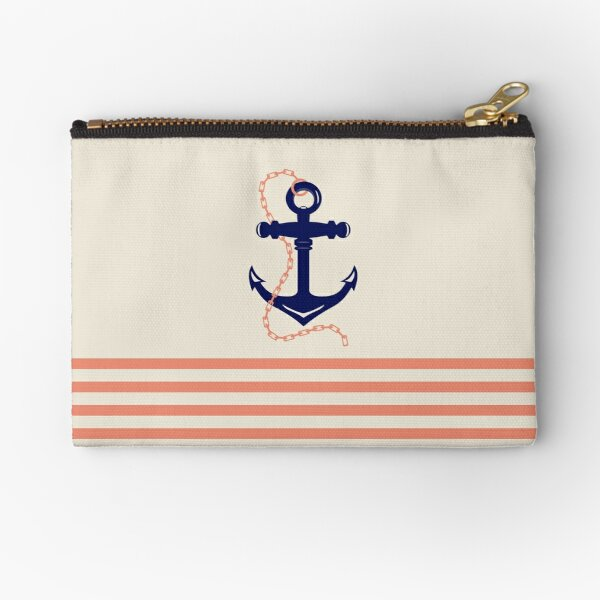 AFE Navy Anchor and Chain Zipper Pouch