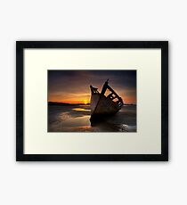 Wreck at Sunset • Bunbeg, Co Donegal Framed Print