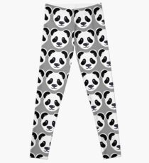 Emoji: Cute panda face Leggings