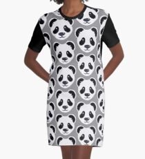 Emoji: Cute panda face Graphic T-Shirt Dress