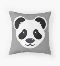 Emoji: Cute panda face Floor Pillow
