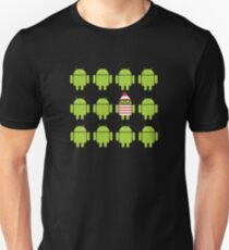 Where's Waldroid? Unisex T-Shirt