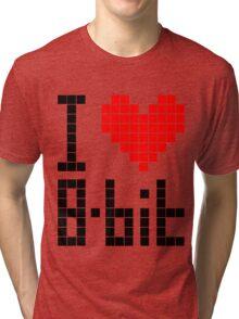 I Love 8-bit <3 Tri-blend T-Shirt