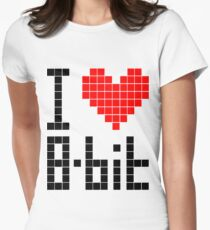 I Love 8-bit <3 Women's Fitted T-Shirt