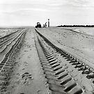 Tracks in the Sand - Sea Palling by Richard Flint