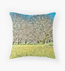 Trees and grass Throw Pillow