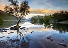 Snowdonia - Snowdon reflections on Llyn Padarn by Angie Latham