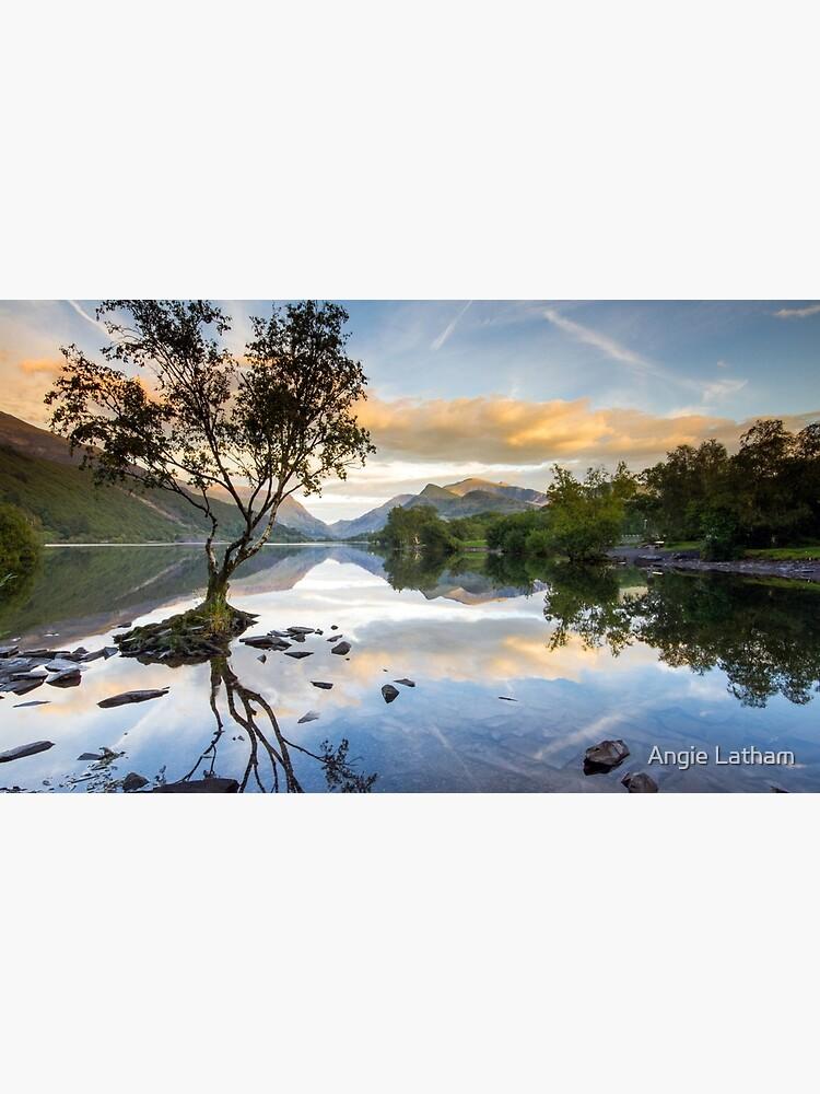 Snowdonia - Snowdon reflections on Llyn Padarn by AngelaBarnett