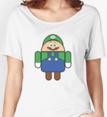 Super Droid Bros. Luigi Women's Relaxed Fit T-Shirt