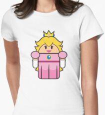 Super Droid Bros. Princess Peach Women's Fitted T-Shirt