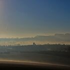 Mist on the hills, over Nottinghamshire. U.K. by naranzaria
