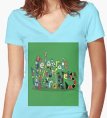 Celebrate your Weirdness Women's Fitted V-Neck T-Shirt