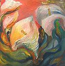 River Bank Calla Lilies by Barbara Sparhawk