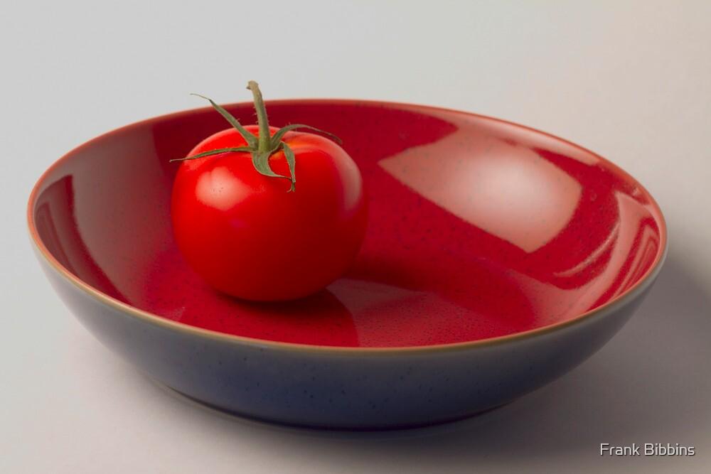 Tomato in Blue Bowl by Frank Bibbins